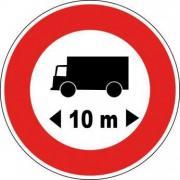 Panneau limitation de longueur b10a